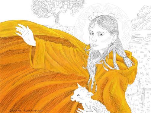 Bridget and her cloak